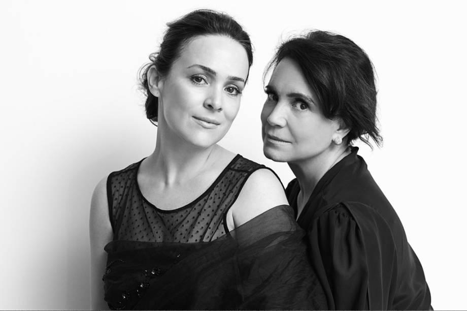 A atriz Gabriela Duarte com a mãe, a atriz Regina Duarte