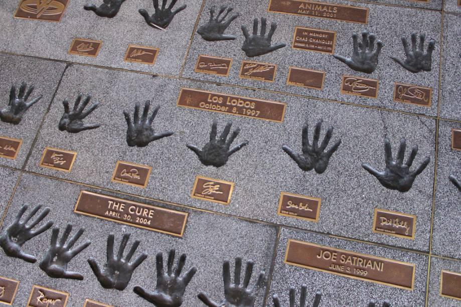 Rock Star Handprints, em Sunset Boulevard, Beverly Hills