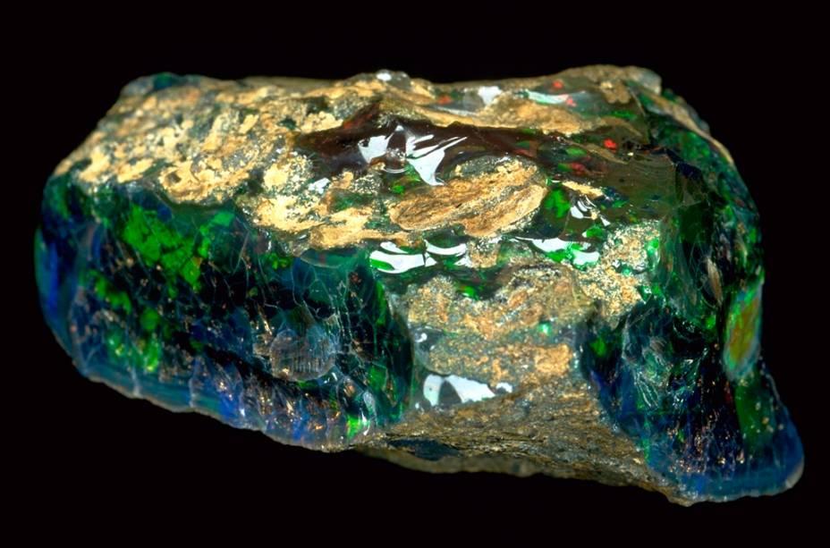 Opala Roebling, parte da ala de mineirais do museu, que ainda tem diamantes famosos