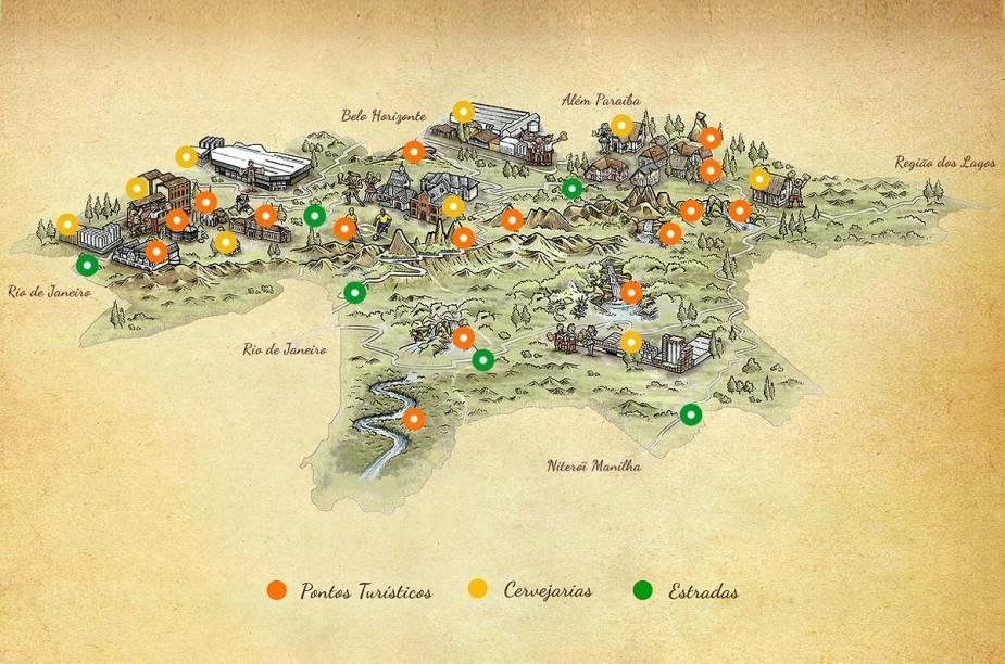Na Rota Cervejeira, há seis cervejarias espalhadas por nove locais diferentes e 16 pontos turísticos, ladeados por seis estradas