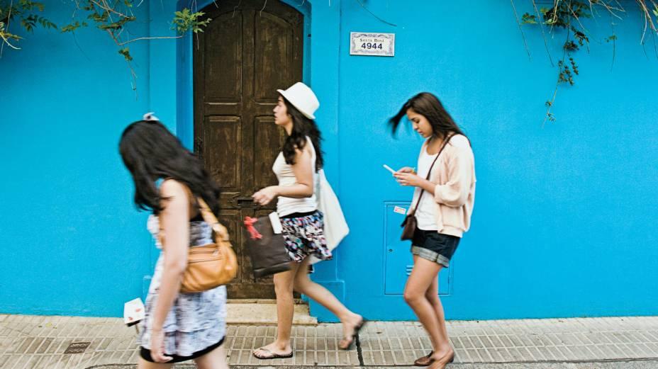 Rua azul de Palermo