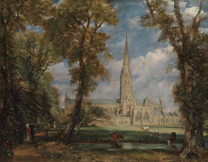 <em>Salisbury Cathedral from the Bishops Grounds</em>, de John Constable, um dos maiores pintores clássicos do Reino Unido, destaque do Metropolitan Museum of Art