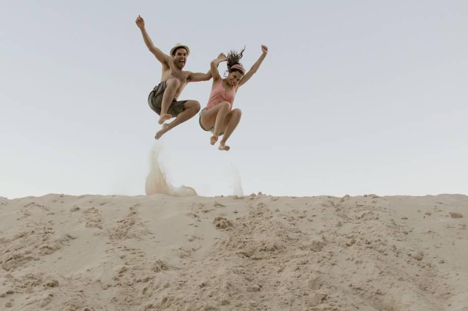 <em>Saltando Medanos</em>, foto de Adriana Morales