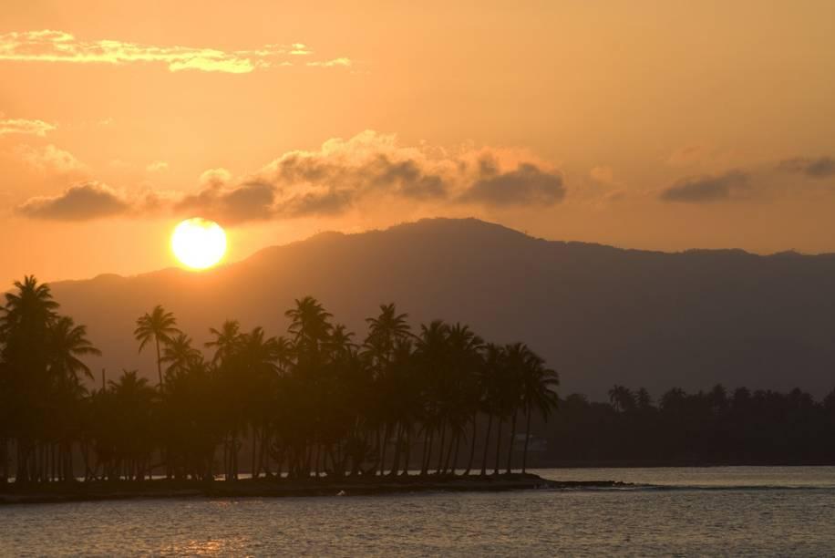 Pôr-do-sol em las Galeras, Samaná