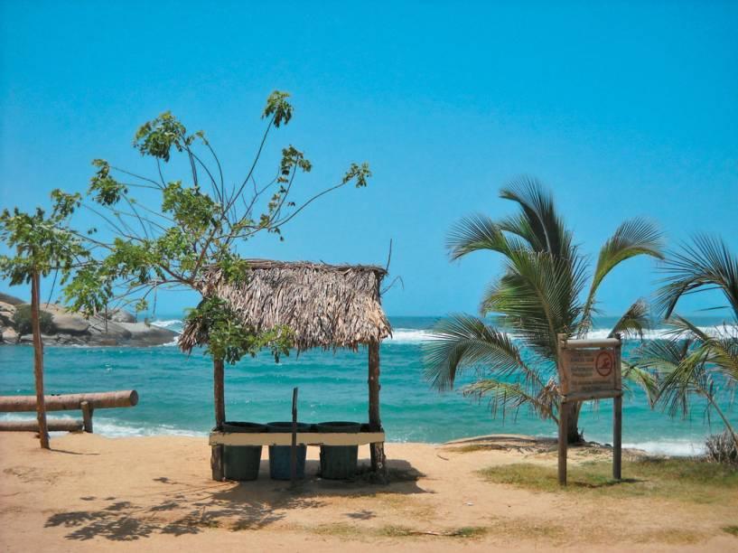 A praia de <strong>El Cabo</strong>, no Parque Nacional Natural Tayrona, um dos atrativos que levou o Norte da Colômbia a figurar entre os 20 melhores destinos para conhecer, segundo a revista <em>Traveler</em> na National Geographic