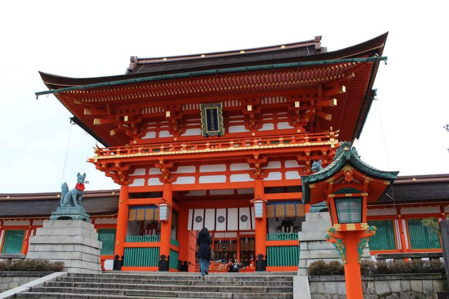 Portão principal do santuário Fushimi Inari Taisha