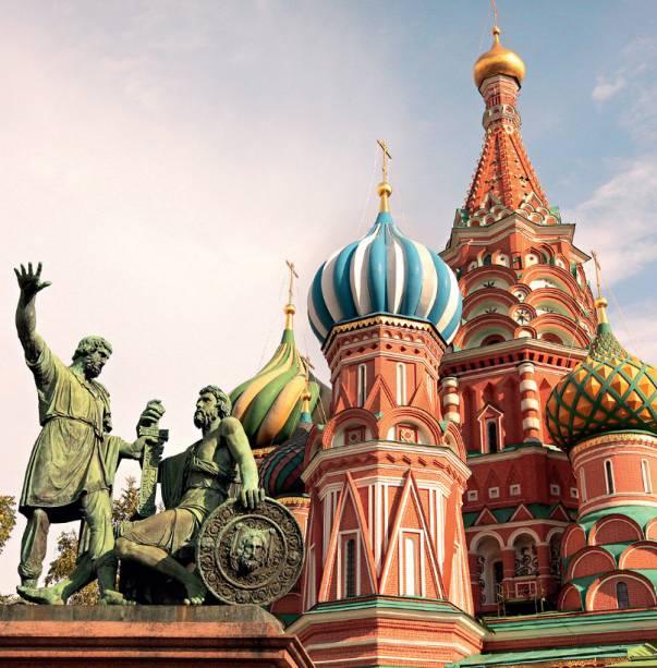 Catedral de São Basílio, em Moscou, Rússia