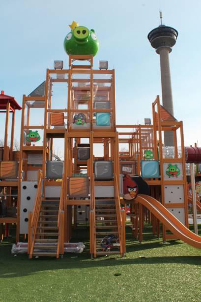 Destinado às crianças, o parque possui todos os detalhes do popular jogo
