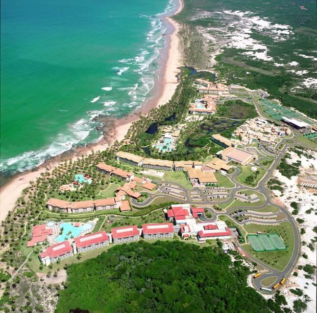 Vista do complexo Costa do Sauipe, na Bahia