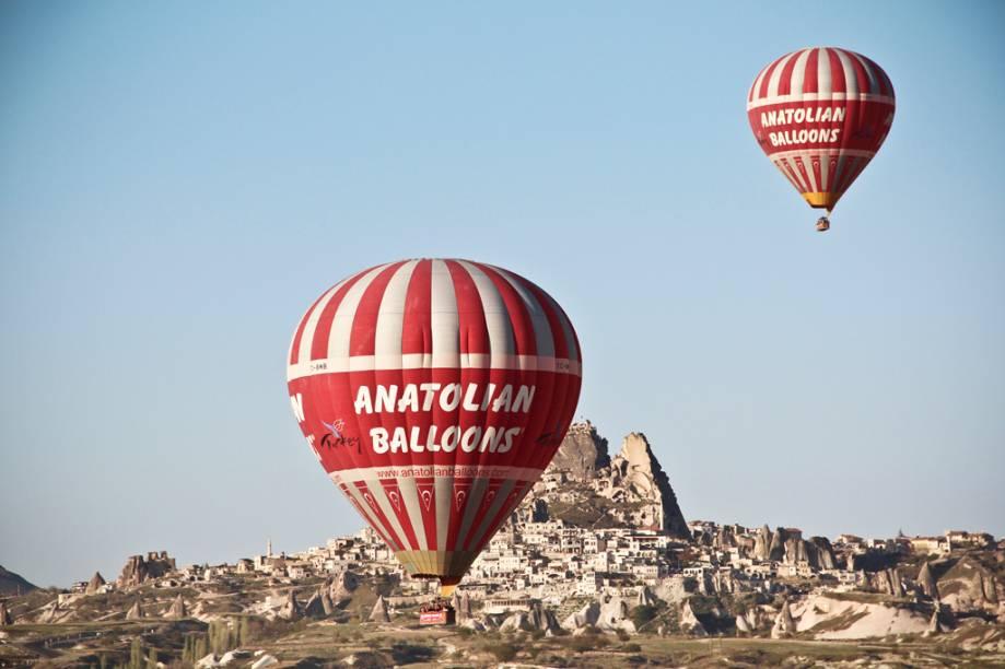 """Balões da Capadócia, na <a href=""""http://viajeaqui.abril.com.br/paises/turquia"""" rel=""""Turquia"""" target=""""_blank"""">Turquia</a>"""