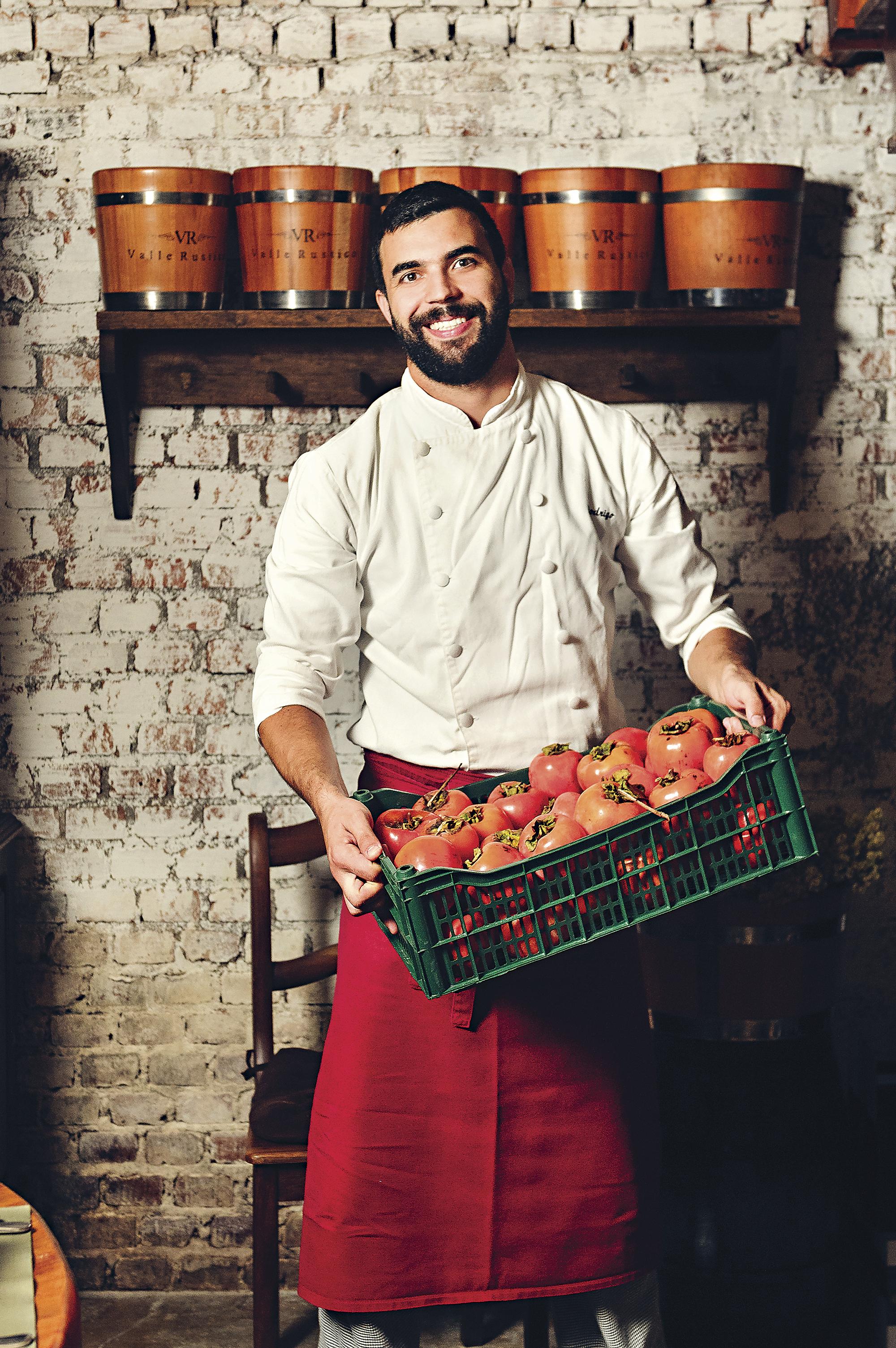 Rodrigo Bellora, chef do restaurante Valle Rústico, Vale dos Vinhedos, Bento Gonçalves, RS