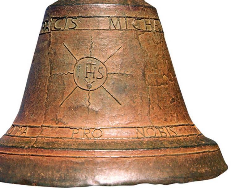 Sino do século 17 em exibição no Museu das Missões