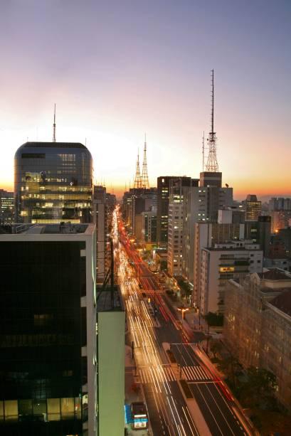 O skyline da Avenida Paulista