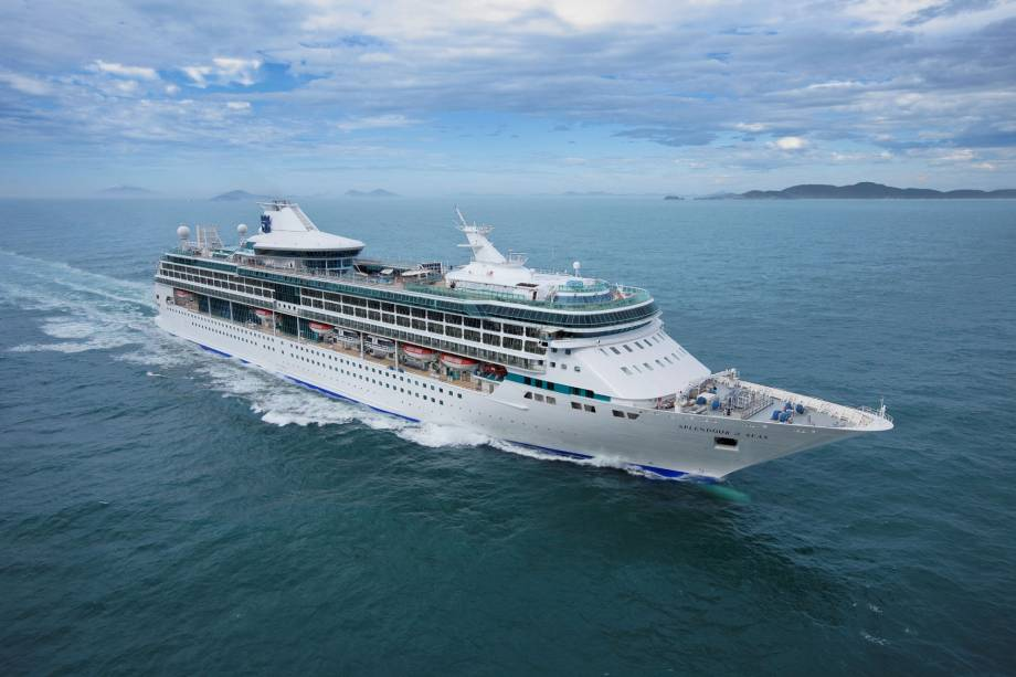 Navio de cruzeiros Splendour of the Seas, da companhia Royal Caribbean International.