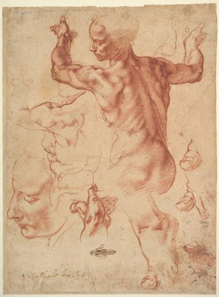 Estudos para a síbila líbia, Michelangelo, Metropolitan Museum of Art