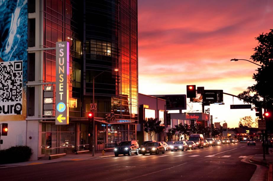 Sunset Boulevard, em Beverly Hills