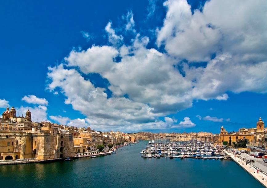 """As """"Três Cidades"""" é o nome coletivo dado a Cospicua, Vittoriosa e Senglea, na ilha de Malta"""