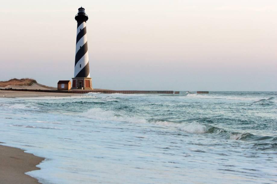 <strong>5. Cape Hatteras, Outer Banks, Carolina do Norte</strong>O destaque da limpíssima Cape Hatteras fica por conta do farol mais famoso dos Estados Unidos