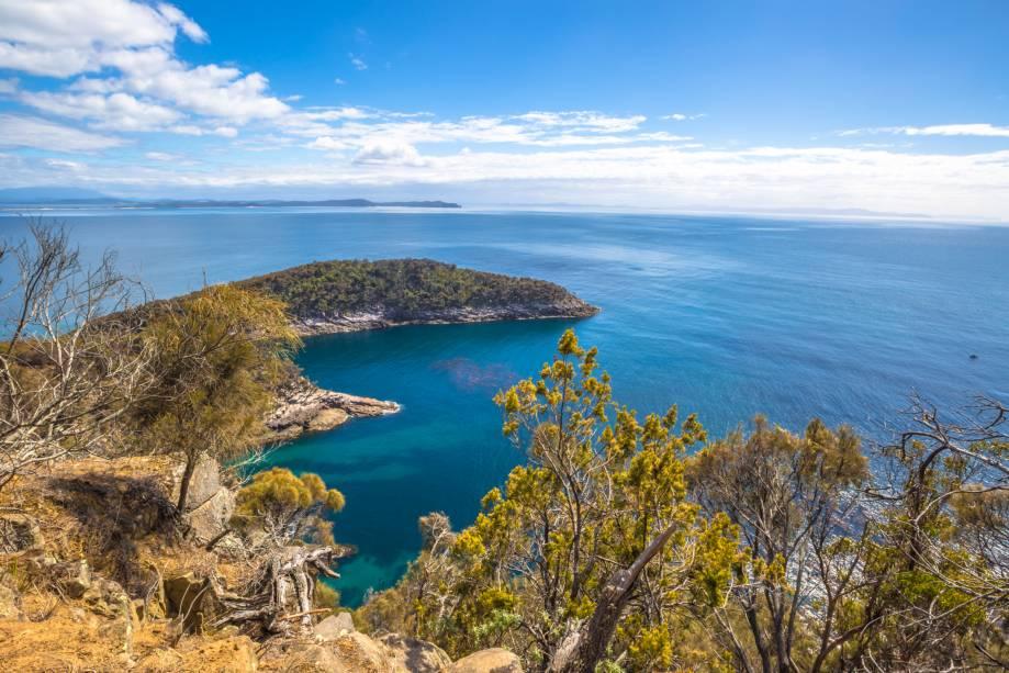 <strong>Região selvagem da Tasmânia </strong>                                                                                                                Dezessete parques nacionais estão no território da Tasmânia. Lá você encontra praias com aspecto intocado, montanhas que deixam qualquer amante do trekking fascinado, corredeiras radicais e naturais e a constante beleza da vida selvagem. Sua vegetação é uma das últimas extensões de floresta temperada do mundo