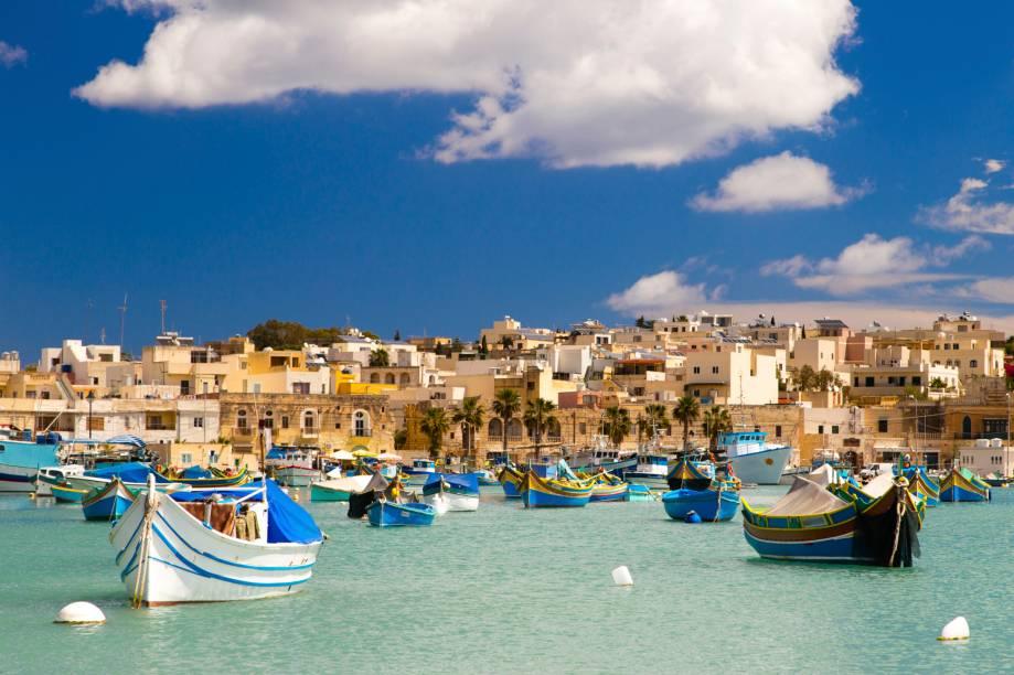 Porto Marsaxlokk, em Malta