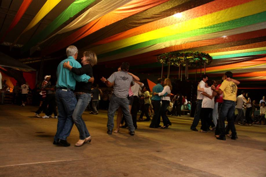 A hora da dança na Festa do Imigrante de Timbó