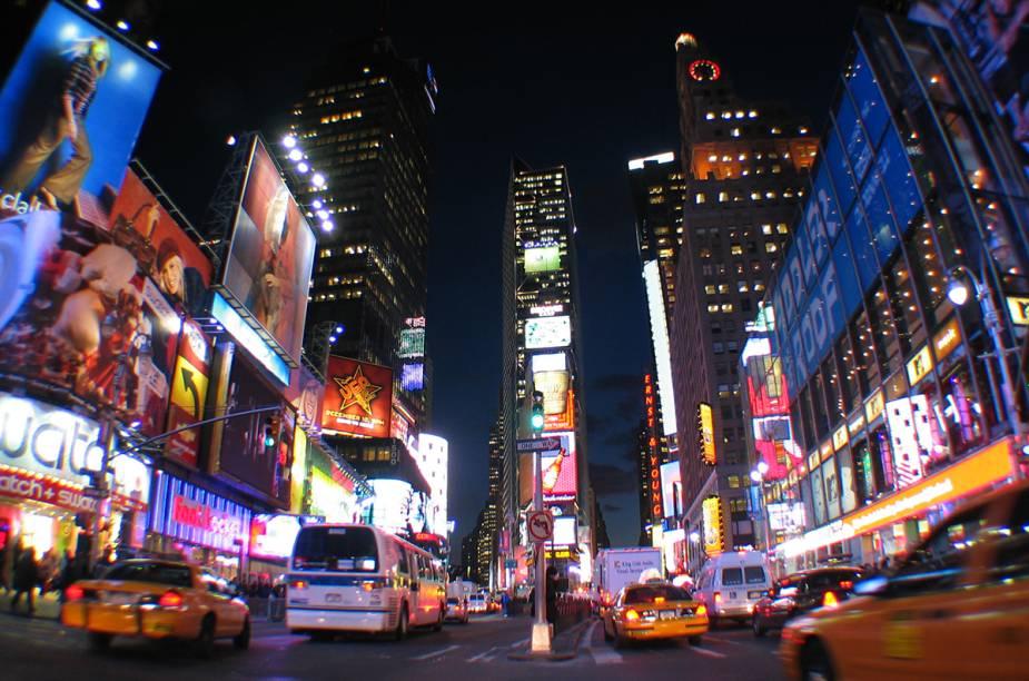 A famosa bola que desce por uma haste no momento da virada do ano, na Times Square, em Nova York