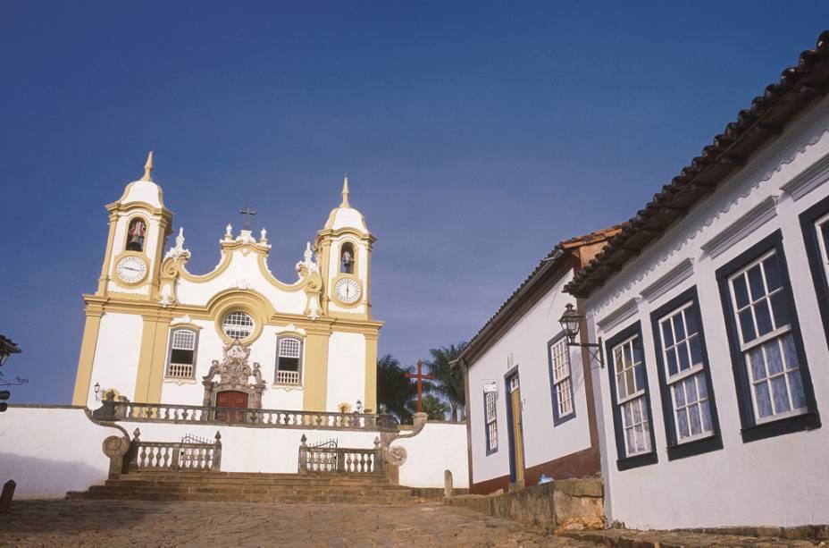 A <strong>Igreja Matriz de Santo Antônio</strong>, a mais importante da cidade de Tiradentes (MG), tem esculturas de Aleijadinho de 1810