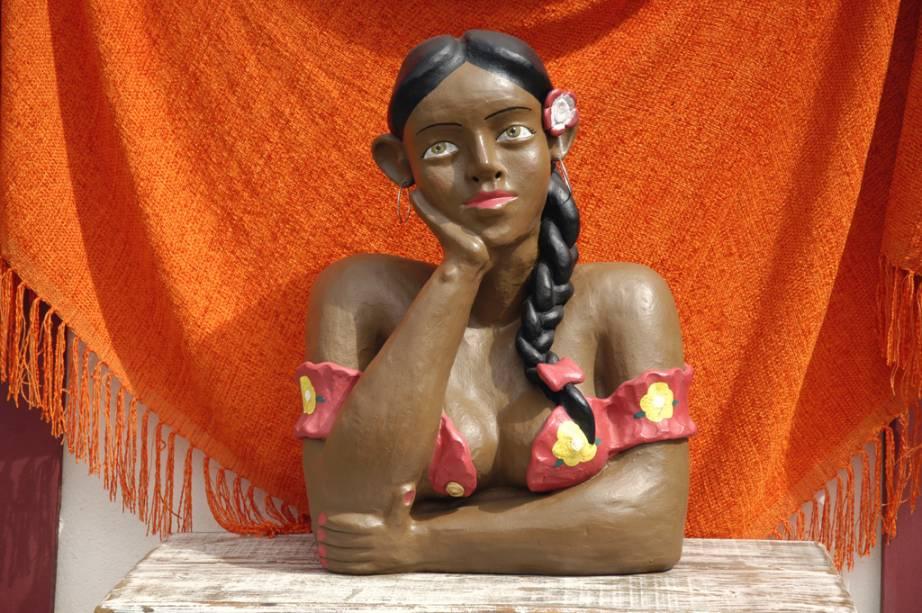 Namoradeira, uma das peças de artesanato mais tradicionais deTiradentes– a cidade mineira é bem conhecida por suas lojinhas de artesãos