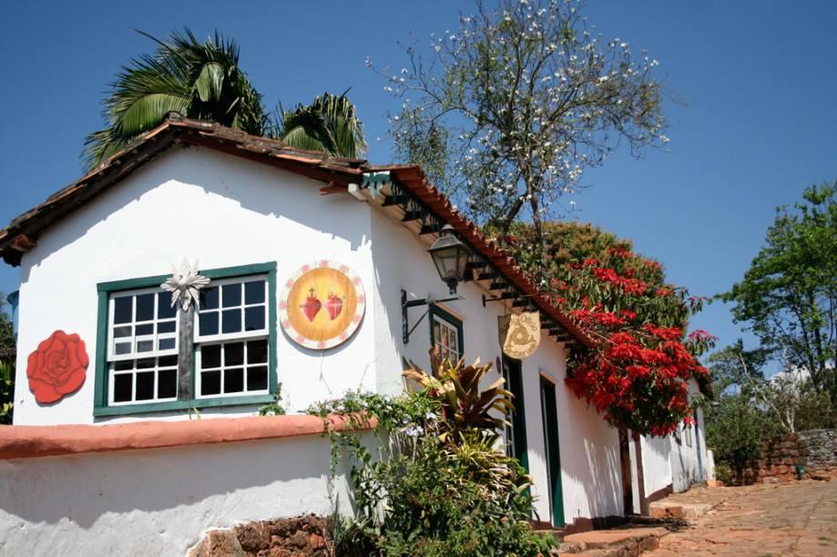 Casarão em Tiradentes, uma das cidades históricas mais bem-preservadas do Brasil