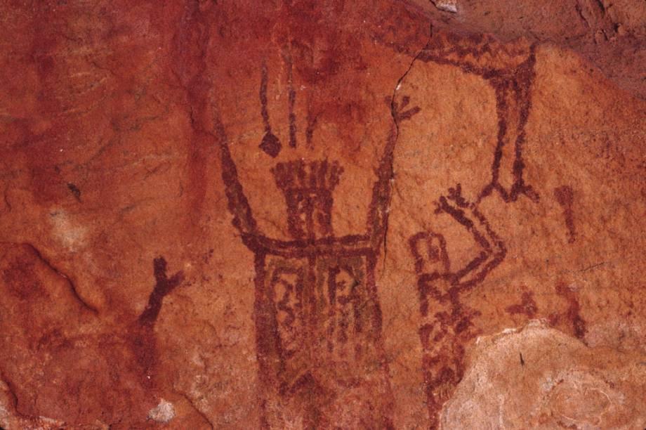Pinturas rupestres na Toca do Zé Patú, no Circuito da Serra Branca, no Parque Nacional da Serra da Capivara