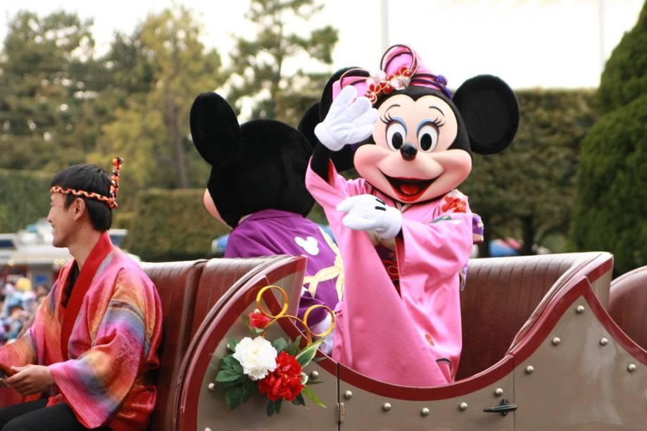 Parada dos personagens na Tokyo Disneyland
