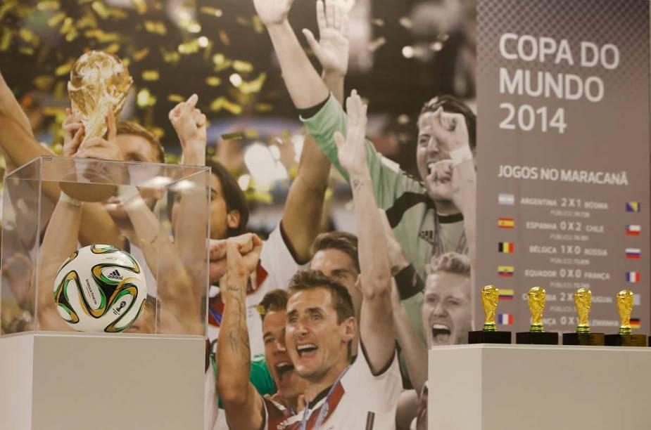 O tour também tem um espaço especial dedicado à final da Copa do Mundo de 2014, em que a Alemanha venceu a Argentina nos gramados do Maracanã