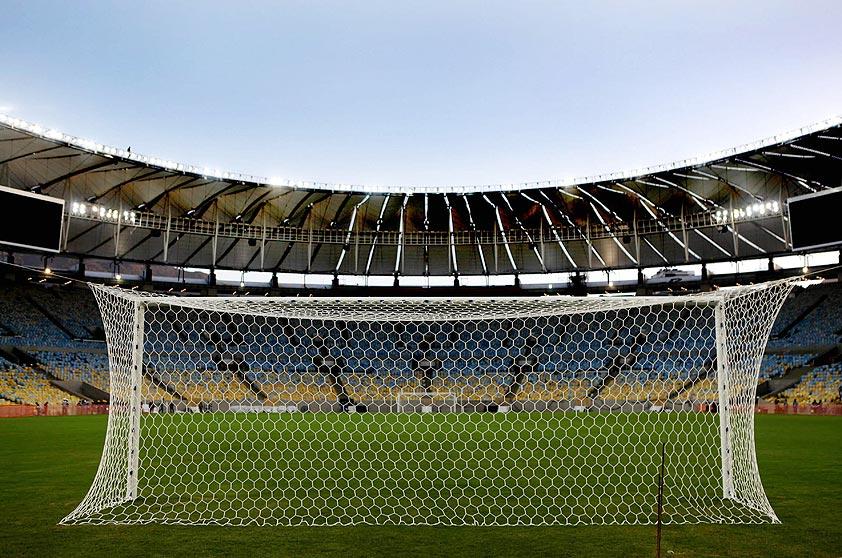 O estádio na visão de quem está atrás das redes de um dos gols