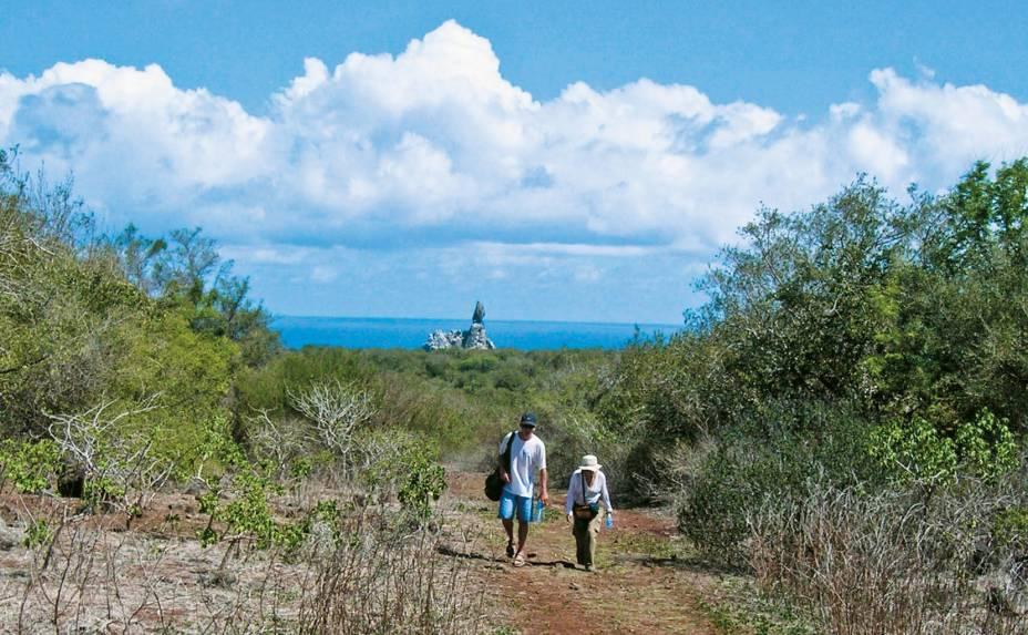 """<strong>Trekking</strong>Há várias caminhadas que podem ser feitas pela ilha;uma das mais procuradas é o <a href=""""http://viajeaqui.abril.com.br/estabelecimentos/br-pe-fernando-de-noronha-atracao-trekking-ate-a-praia-da-atalaia"""">trekking até a Praia do Atalaia</a>. O passeio leva cinco horas, com paradas por piscinas naturais e mirantes - escolha um calçado confortável e antiderrapante. No final, a recompensa é nada menos que a piscina natural do Atalaia."""