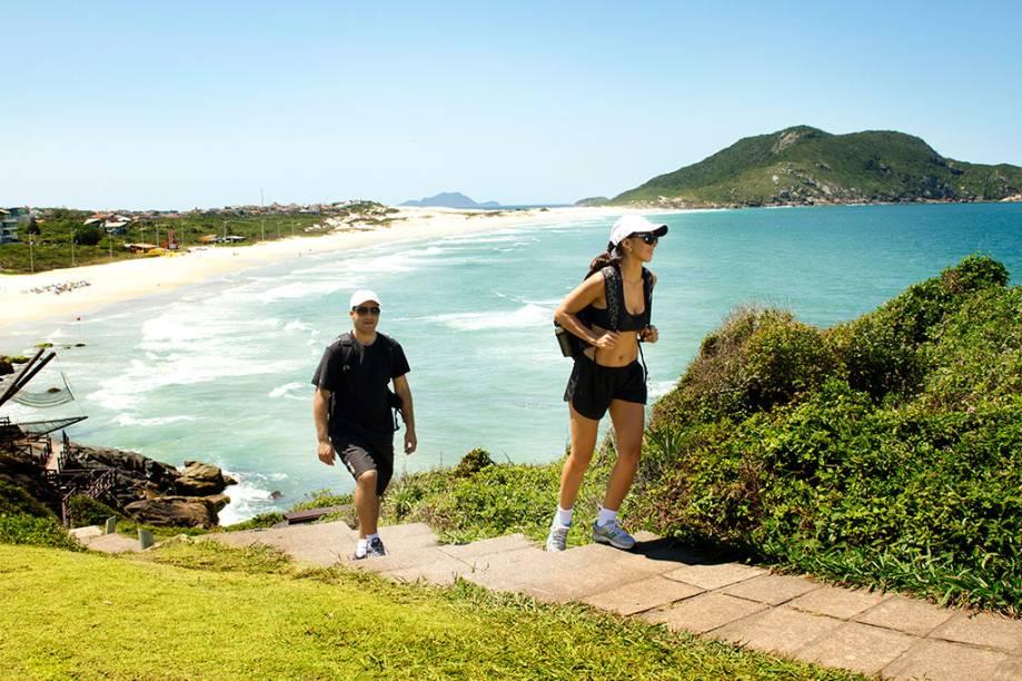 Trilha ecológica doCostão do Santinho Resort, em Florianópolis, Santa Catarina