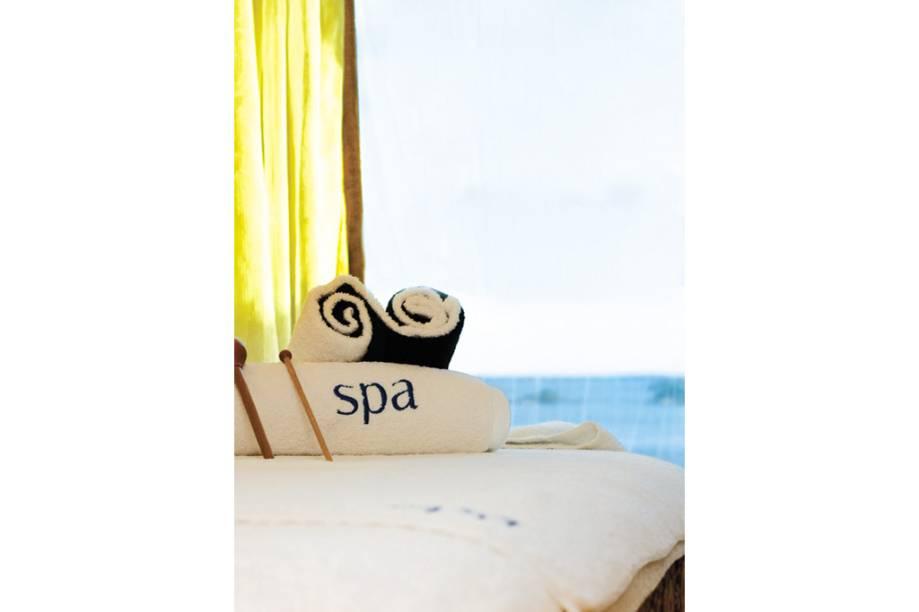 Spa com vista para o mar convida os hóspedes a uma sessão de relaxamento