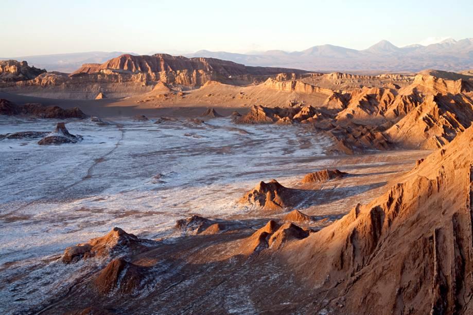 Vale da Lua, no deserto do Atacama, norte do Chile