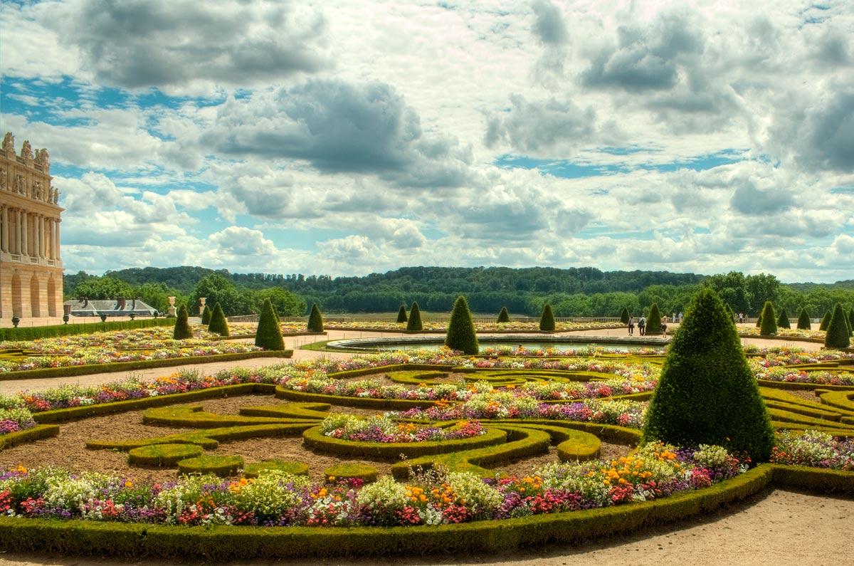 Primavera no Palácio de Versailles (Versalhes), na França
