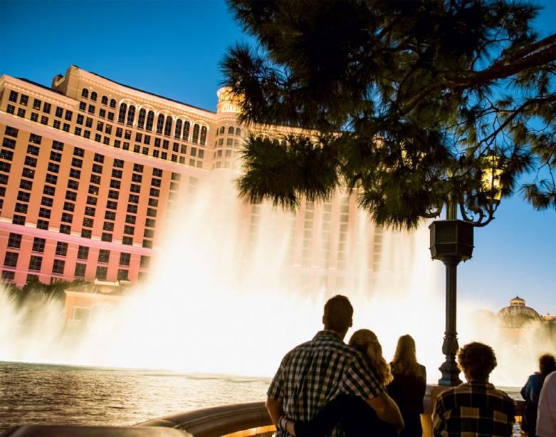 O balé das fontes do Bellagio, programa essencial de Vegas