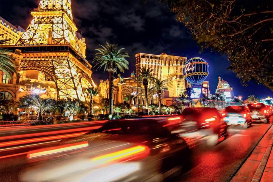 A Cidade Luz da Strip, em Las Vegas.