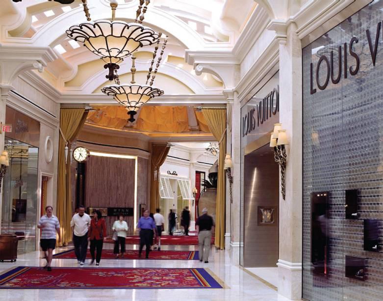 O luxo é básico no Esplanade, shopping high-end do Wynn & Encore