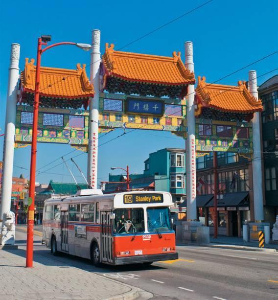 O Millenium Gate, em Chinatown