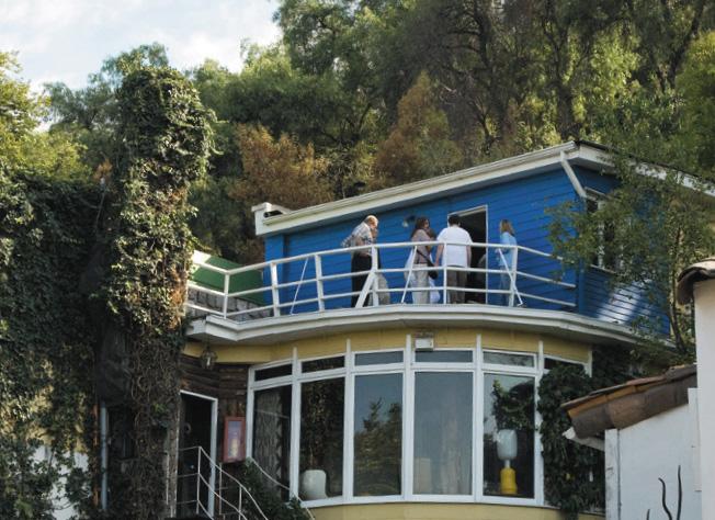 Casa Museo La Chascona, uma das três casas do poeta chileno Pablo Neruda