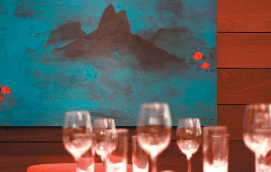 O Rio visto de dentro do restaurante Olympe
