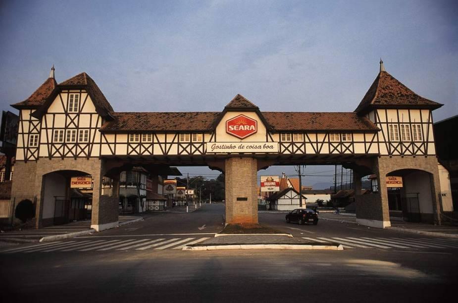 Portal da Vila Germânica em Blumenau (SC)