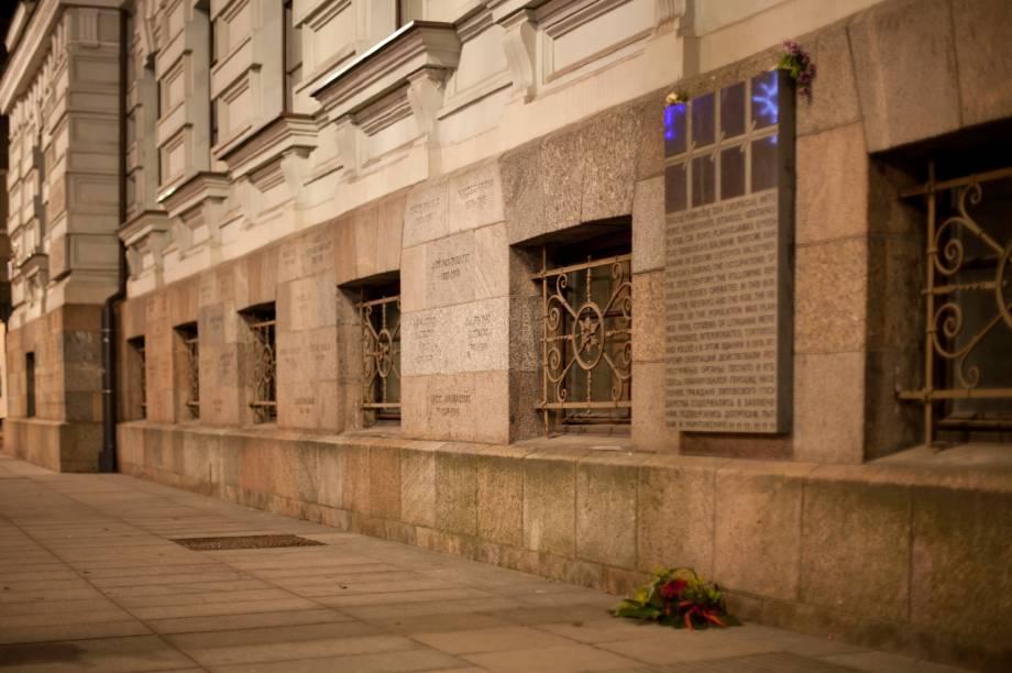 Fachada do Museu das Vítimas do Genocídio, em Vilnius