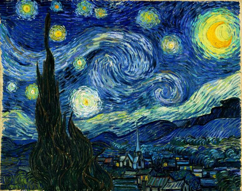 Noite Estrelada (detalhe), de Vincent van Gogh, é um dos grandes destaque do acervo do MoMA