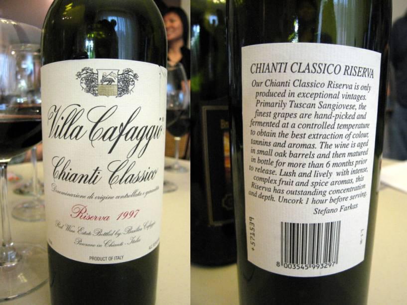 Chianti Clássico, um dos melhores e mais conhecidos vinhos produzidos na Toscana