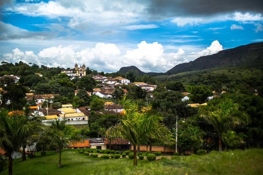 Visão geral do Centro Histórico de Tiradentes, em Minas Gerais