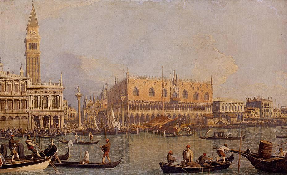 <em>Vista do Palácio Ducal de Veneza</em>, de Canaletto